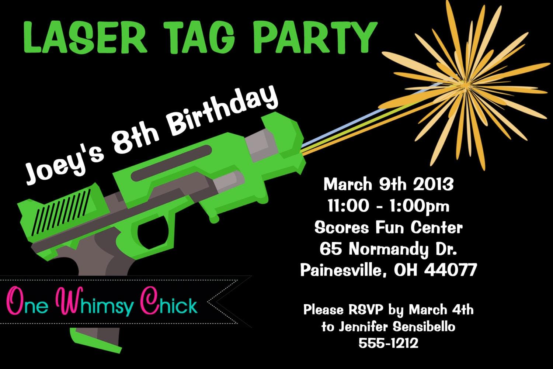 Free Printable Laser Tag Birthday Invitations Choice Image - baby ...