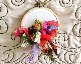 Abstract Bloom - hand embroidery hoop art