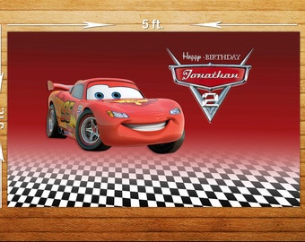 Cars  Birthday Party Backdrop - Printable Digital File Only - YOU PRINT