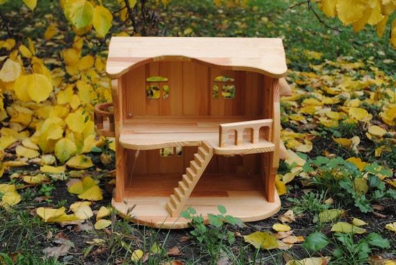 Holz Puppenhaus Holz Puppe Haus Hölzerne Puppe Haus Fee