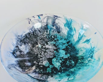 Glow-in-the-Dark Blue and Gray Sauce Bowl