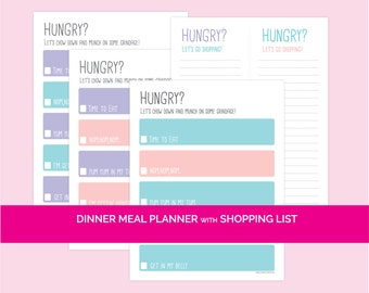 Dinner Meal Planner with Shopping List
