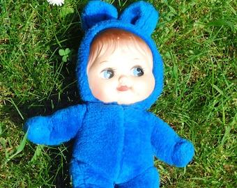 """Blue bunny - plush doll """"Wiesje Wollepop"""""""