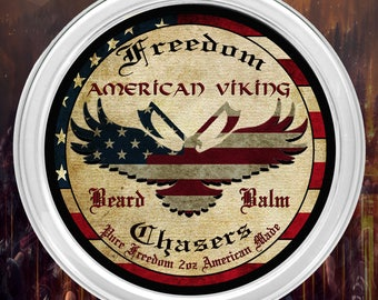 Freedom Chasers Organic and Natural Beard Balm American Viking Scent