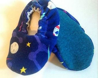 PEANUTS *Asimov*  Baby moccasins * TG.  0 newborn gift,  baby softsoles