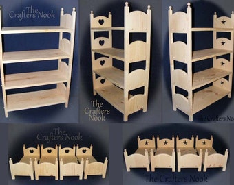 Play Bed * 18 Inch Doll Bed * Indoor Play Toys * Play Ideas Indoor * Gift for Goddaughter * Gifts for Daughter * Indoor Play Set * PhotoProp