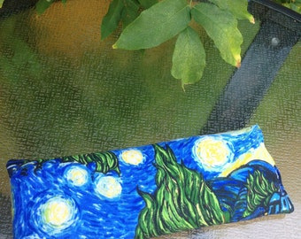 Van Gogh Starry Night Lavender Eye Pillow Aromatherapy Meditation Yoga Headache Stress Relief Eye Mask