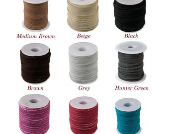 3mm suede lace, genuine flat cord suede 3mm, genuine suede cord 3mm, stringing material 3x1.5mm genuine suede lace cord, suede lace 3x1.5mm.