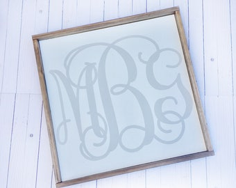 Initial Sign, Monogram Sign, Monogram Wood Sign, Family Sign, Personalized Wood Sign, Custom Wood Signs, Custom Initial Sign, Wooden Sign