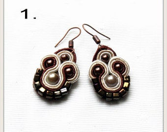 small soutache earrings, one pair  to choose