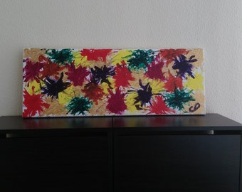 Fireworks, Original abstract art painting