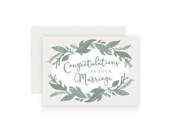 Wedding Card | Congratulations On Your Marriage | Christian Wedding Card | Catholic Card | Congratulations | Handmade Card | Floral Card