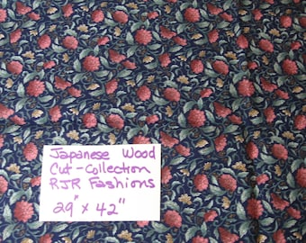 "Japanese wood cut collection, RJR Fashions, 29"" x 42"", sewing ,supplies, fabric, quilting, quilt (Japanese Wood Cut)"