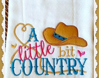 A Little Bit Country Burp Cloth Baby Girl Gift Diaper