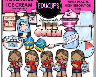 Homemade Ice Cream Clip Art Bundle