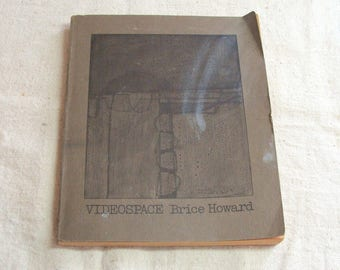 1972 Videospace, Brice Howard, Trade Paperback on Television