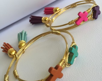 Cross & Tassel Bangle - QTY 1