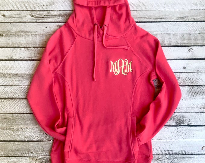 Monogrammed Hoodie, Hometown Hoodie, Charles River Hoodie, Gifts for Her, Christmas Gifts, Personalized Gifts