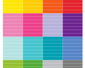 112 BLANK Daily Header Stickers for use with ERIN CONDREN Life Planner