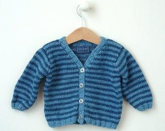 KNITTING PATTERN baby cardigan 'classic stripe'
