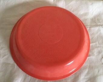 RARE Coral Pink Glassbake Pie Plate
