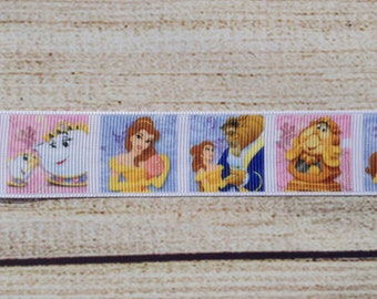 """Book Loving Princess with All Her Friends, 3 yards of 1"""" Grosgrain Ribbon"""