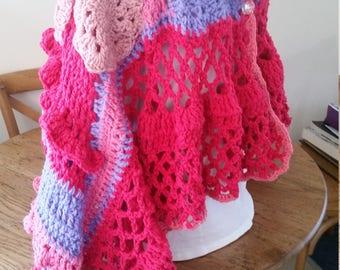 Freeform crochet wrap
