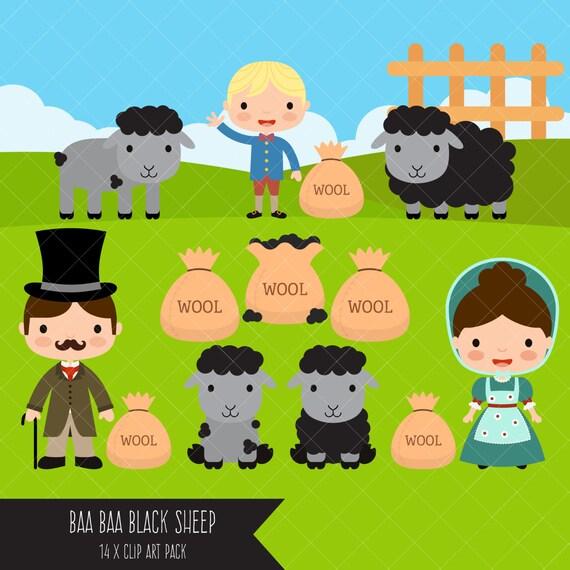 baa baa black sheep clipart nursery rhyme clip art rh etsy com black sheep clip art free black sheep clipart graphics