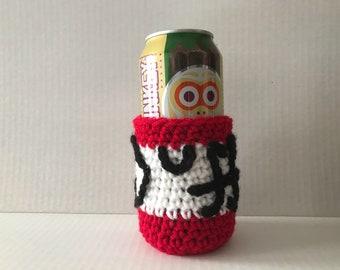 Crochet Duff Beer Coozie