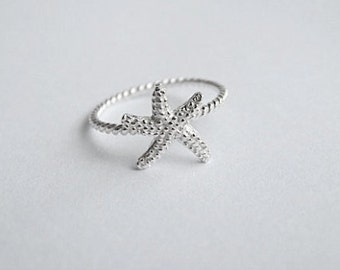 Sterling Silver Starfish Knobby Ring*