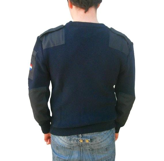 German army navy wool jumper pullover sweatshirt military stretchy Bundeswehr sweater pulli 6sPpQ6Gt