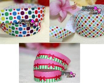 """3 color 7/8"""" Polka Dot grosgrain ribbon / 22 mm Polka Dot grosgrain ribbon 3 color"""