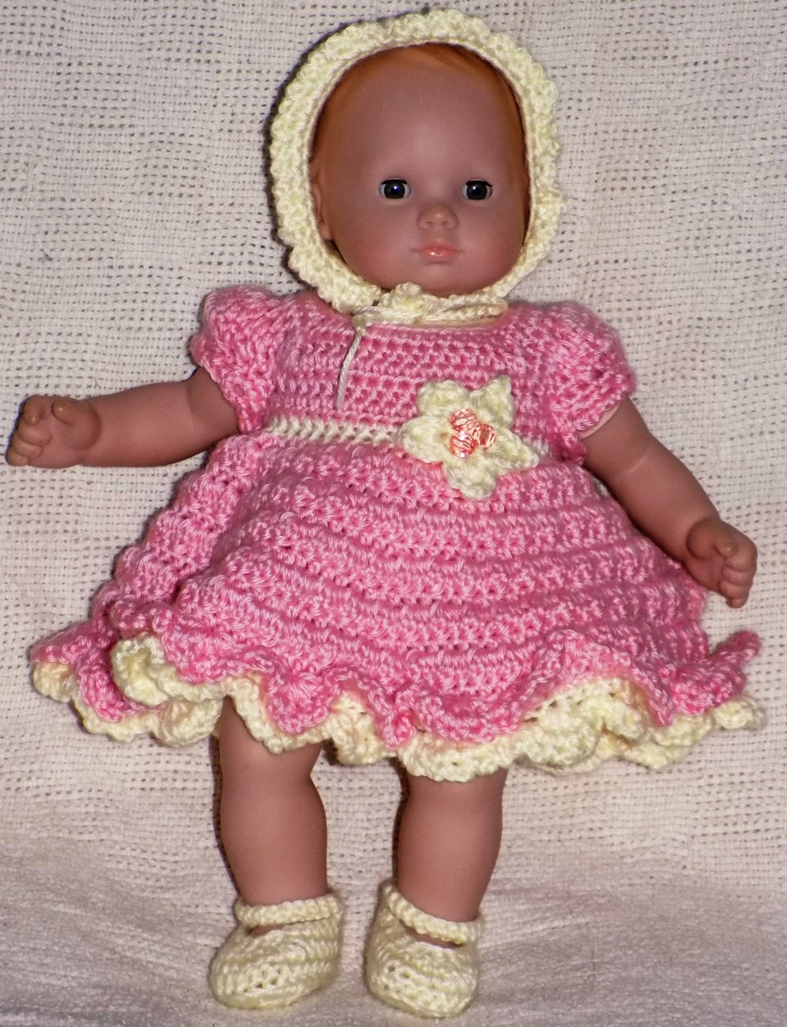 Bitty Baby Crochet Outfit- Complete Dress Outfit Crochet Pattern ...
