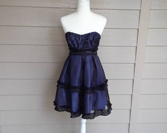 90's  Black Lace and Sapphire  Dress