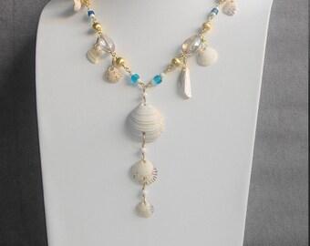 Shellfish pendant necklace