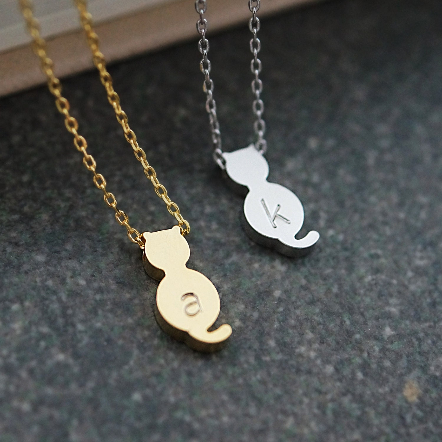cat gold charm gift for women pendant color dimondsify rhinestone cute animal trendy hot product pet wholesale silver silvergold jewelry necklace