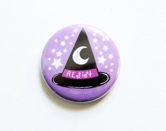 Resistance for Witches One Inch Button