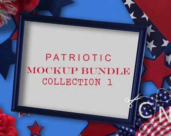 Mockup, Bundle, Set, Wine Glasses, Shirt, Cup, Frame, Patriotic, 4th Of July, July 4th, Mockups, Styled Photography, Stock Photo, Styled