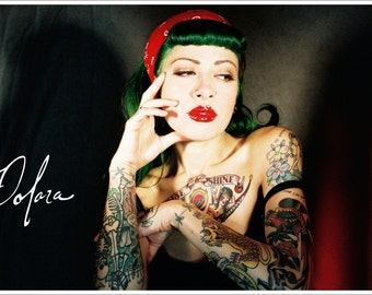 Tattooed Pinup Signed Print