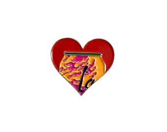 New Soft Enamel Lapel Pin or Hat Pin - La Croix Heart Shaped Pin