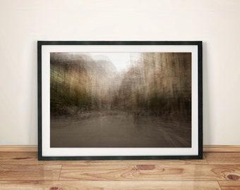 Dreamy City Block Abstract Art Print Poster