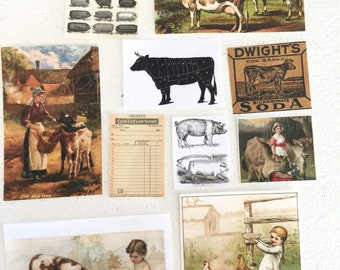 Miniature Farmhouse Scenes and Images for Sign Making