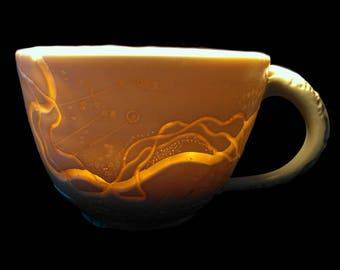 River Frontage Translucent Porcelain Cappuccino or Soup Mug