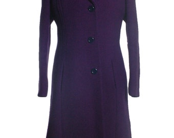 Vintage 1960's Purple Wool Coat 14 - www.brickvintage.com