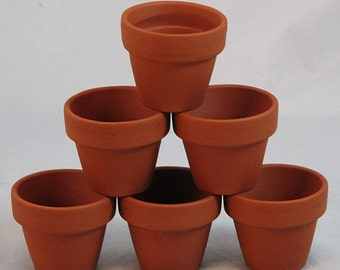 "10 - 3"" x 2.5"" Mini Clay Pots - Great for Plants and Crafts"
