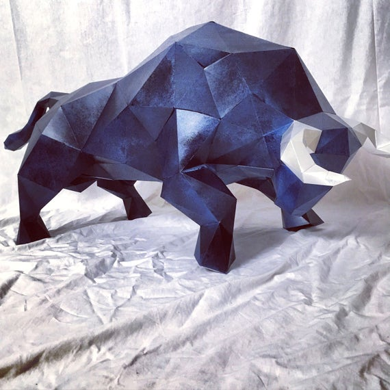 Bull body papercraft you get a pdf digital file templates and you get a pdf digital file templates and instructions for this diy do it yourself impressive paper sculpture de sofspaperplanet en etsy studio solutioingenieria Gallery