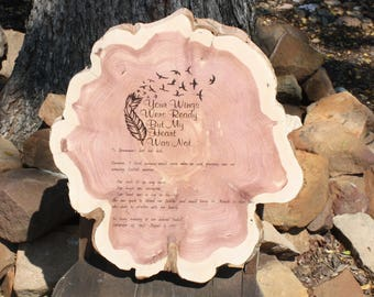 In Memory, Memorial Plaque, personalized wood slice, laser engraved, grief, mourning, funeral, commemorate loved one, event, pet