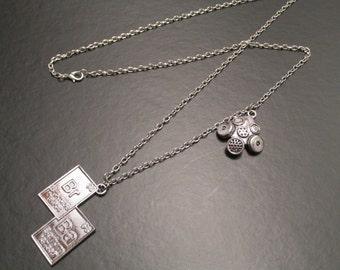 GRAND SALE- Breaking Bad Periodic Table Symbols Necklace