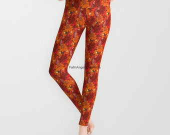 Groovy Flowers Leggings, 5 Sizes Available!