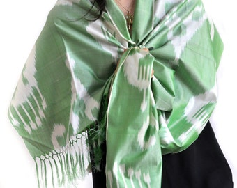 The Ram's Lyre Ikat Silk Scarf - Sc21 (6002)